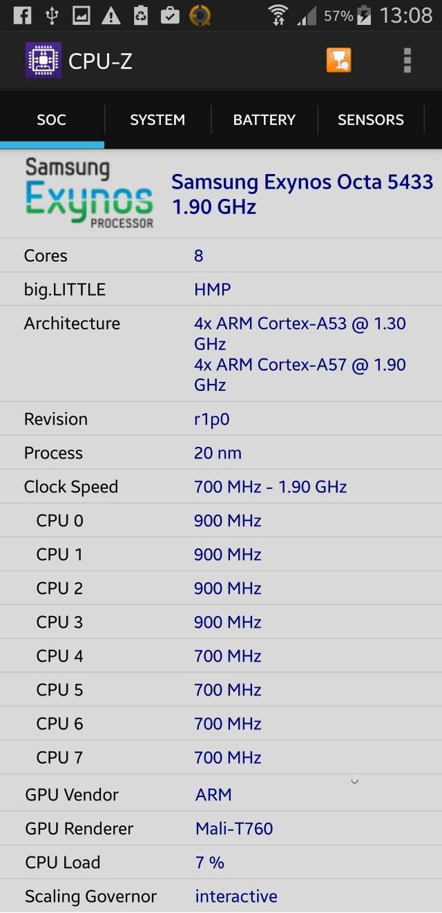 Processador Exynos 5433 - Exynos 7 64 bits