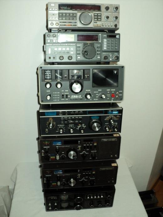 Coleção de radios receptores